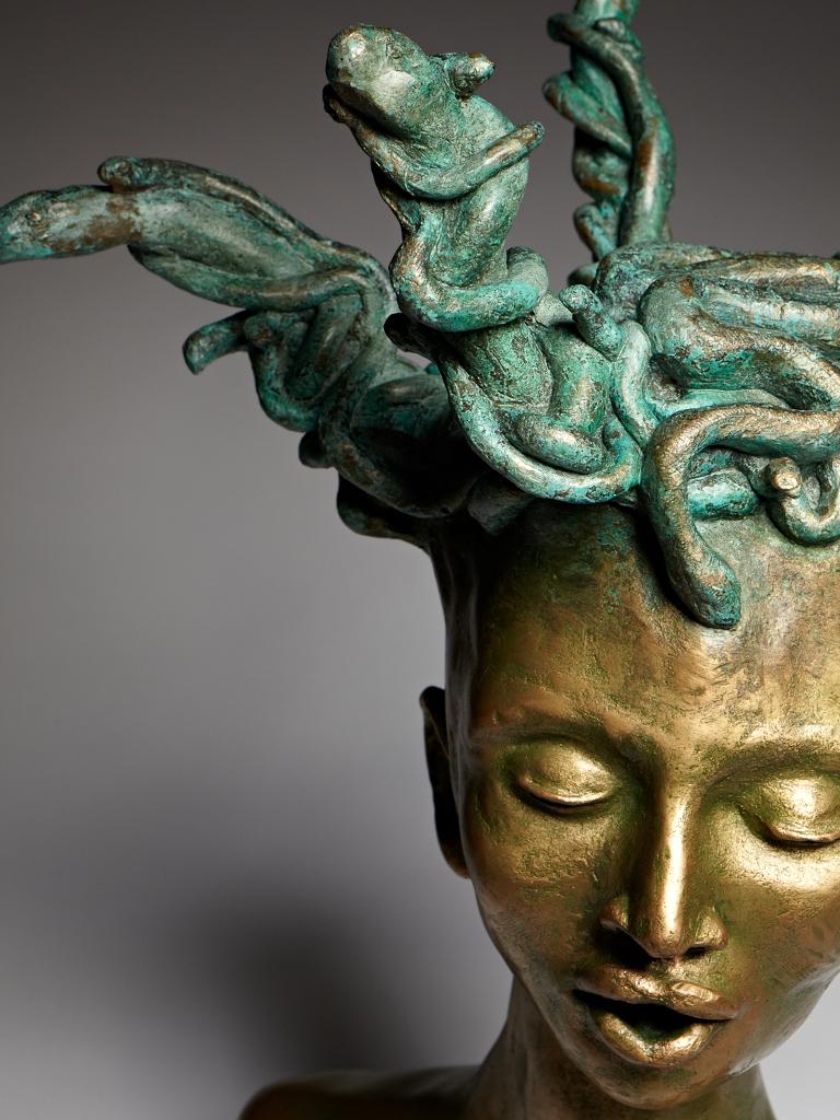 Medusa, bronze, 12″x24″x12″