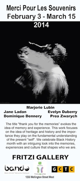 Merci Pour Les Souvenirs: Group Art Exhibition, February 4th to March 15th, 2014